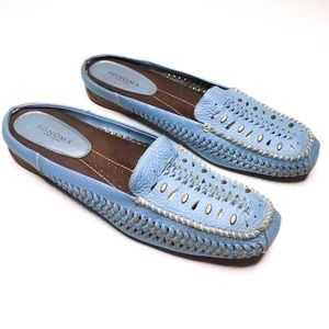 Sonoma Women's Leather Woven Blue Driving Loafer